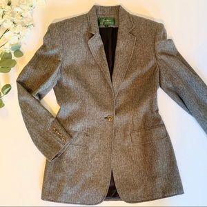 RALPH LAUREN | herringbone wool blazer coat sz 4